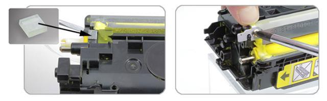 Прокладки для установки дозирующих лезвий в цветных картриджах HP/Canon